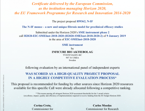 InfiCure Bio received a Seal of Excellence from EU