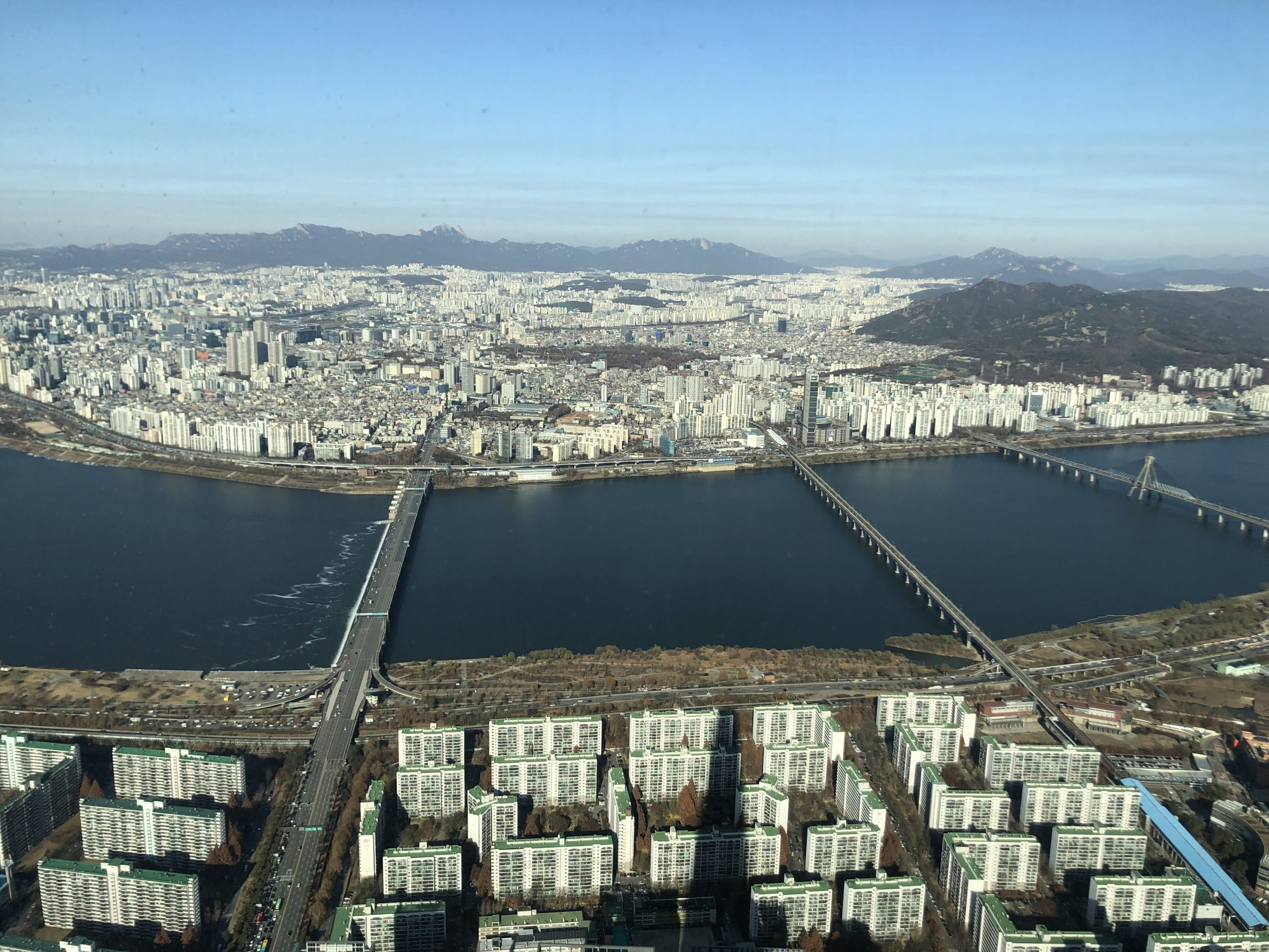 Seoul from Lotte Tower